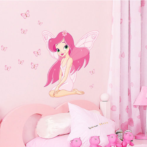 2017 brand hot fairy princess butterfly decals vinyl mural for Fairy princess mural