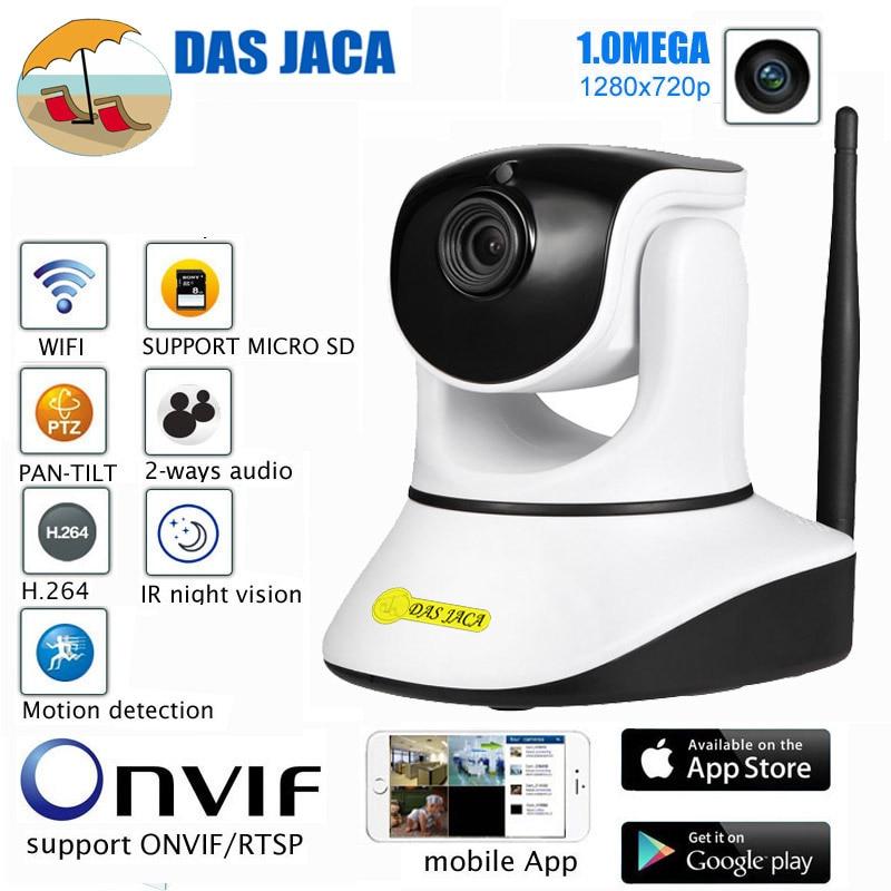 DasJaca 1mp ip Camera P2P Baby Monitor Surveillance Camera 720P HD WIFI Camera Infrared Night Vision Home security camera SD dvr