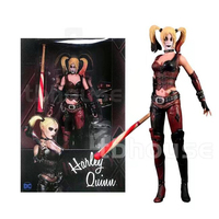 Suicide Squad Batman Begins Harley Quinn Figure Arkham City With Baseball Bat And Gun Action Figures