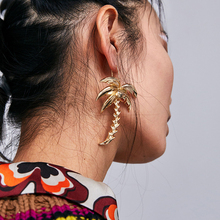 Dvacaman Large Gold Color Metal Drop Earrings Fashion Punk Maxi Tassel Earrings Women Dangle Earrings Party ZA Jewelry Gift AB62