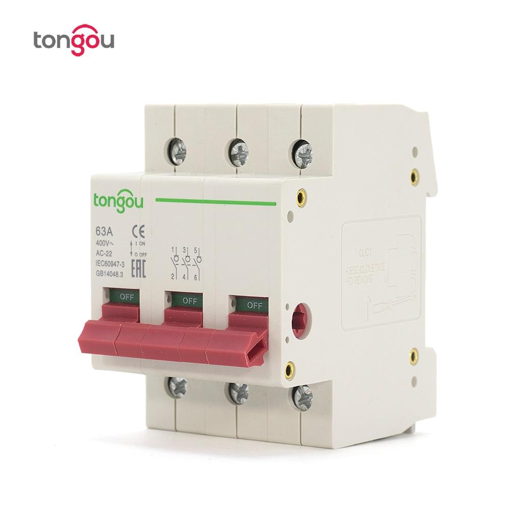 Circuit Breaker 4P 25//40//63A 400VAC 300mA IP20 Electric Breaking Protector