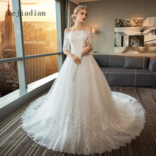 kejiadian Robe de mariage a-line Lace Wedding Dresses train
