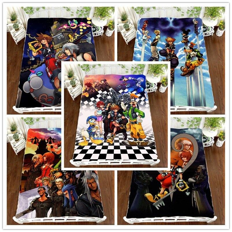 Anime Manga Kingdom Hearts Laken 150*200 cm Laken-in Blad van Huis & Tuin op  Groep 1
