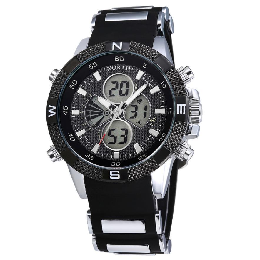 2017 Мужчины Военные Часы Спорт Наручные Часы Силиконовые Модные Часы Кварцевые Часы Января 4