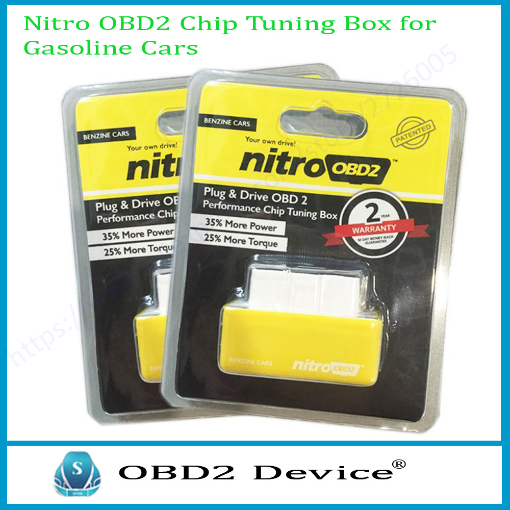New NitroOBD2 Benzine Cars Plug and Driver More Power Torque OBD2 Auto Scanner Nitro OBD2 Yellow