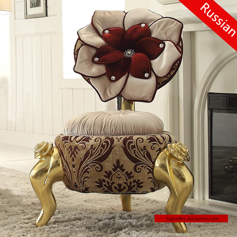 Russian style sofa chair stylish leisure chair bedroom single stool fabric chairs hotel club salon sofa front lift chair bar chairs continental tall stool stylish
