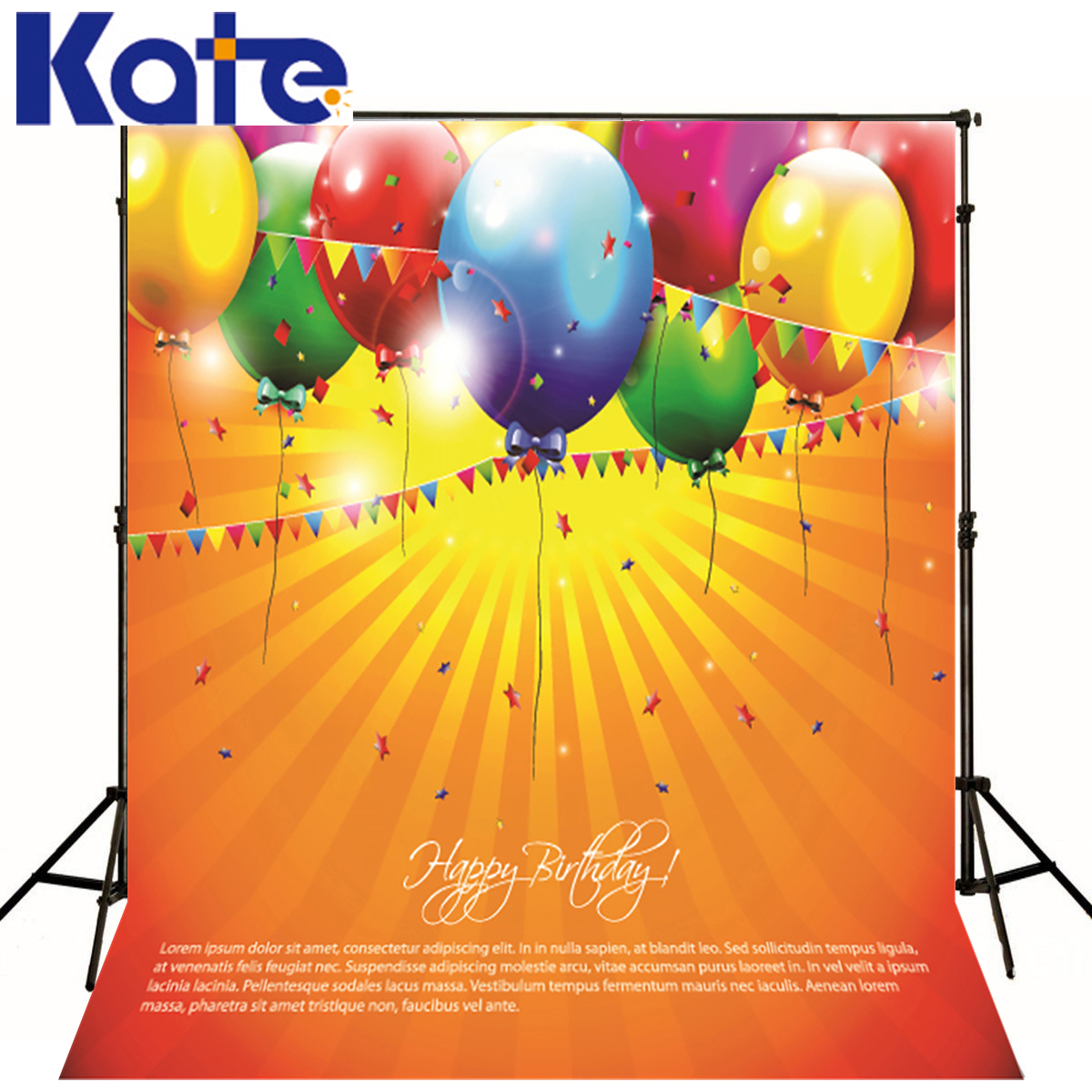Kate 5x7ft Birthday Photographic Background Balloons Party Birthday Backdrop Photography Newborn Microfiber Studio Backdrop kate shabby window backdrop for photography portable cotton photographic studio props gothic indoor background 5x7ft