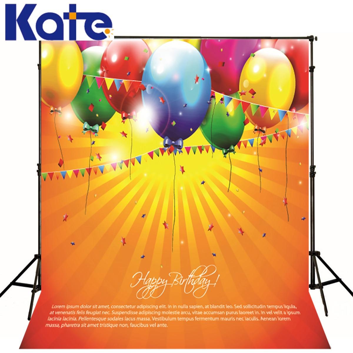 Kate 5x7ft D'anniversaire Fond Photographique Ballons Partie D'anniversaire Toile de Fond Photographie Nouveau-Né Microfibre Studio Toile de Fond
