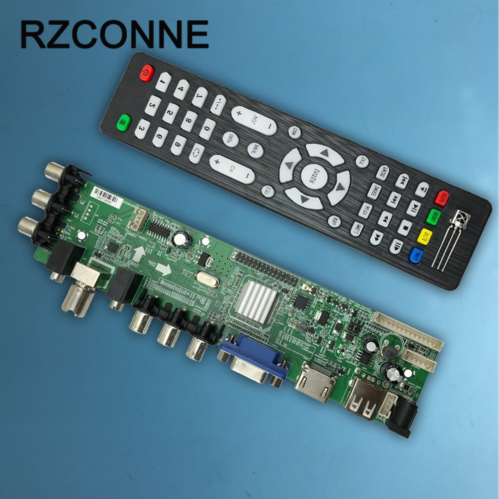 for DS.D3663LUA.A81 digital TV LCDLED Driver Board Support DVB-T2 Universal TV Board tv driver board hx v29 39 l