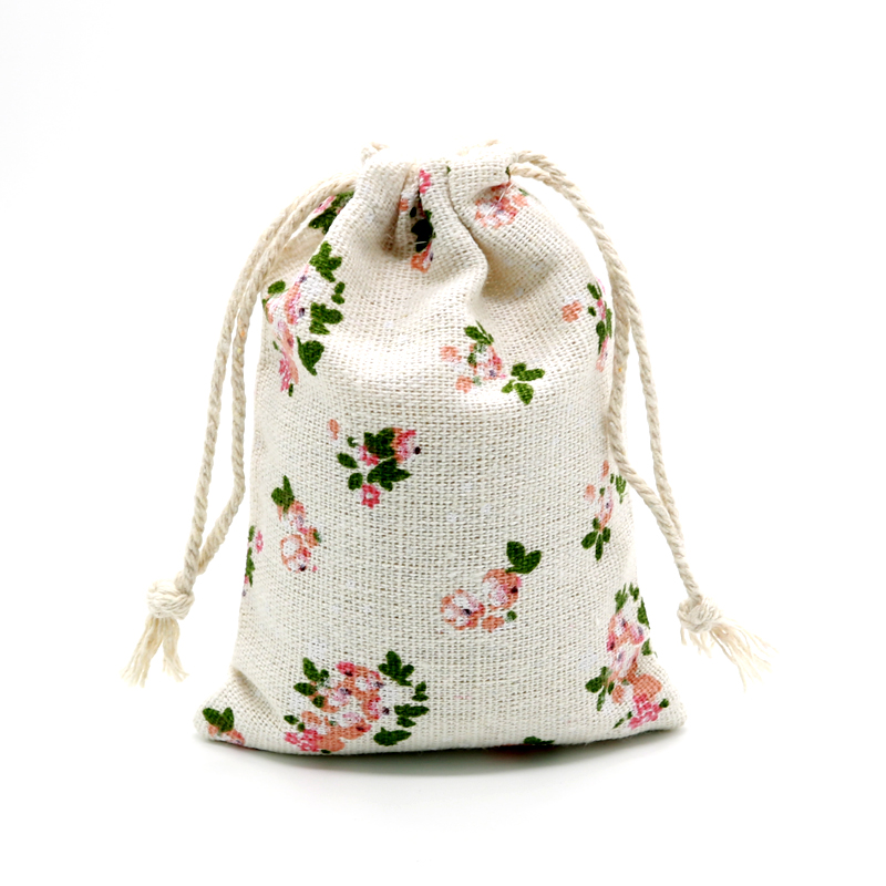 Wholesale 10pcs/lot Small Cotton Bags 8x10cm Wedding Decoration Linen Drawstring Pouch Gift Bag Charms Jewelry Packaging Bags