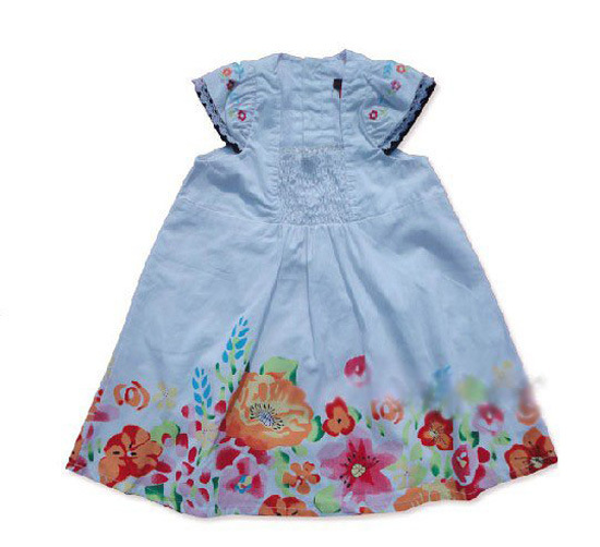 2016 fashion Girl Brand Dress Summer Casual dresses cartoon young girl sleeveless flowers party princess kids dress