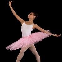 Donne Libere di trasporto Balletto di Danza Gonna adulto Professionale 7 strato di sabbia balletto gonna metà corpo TUTU gonna pratica