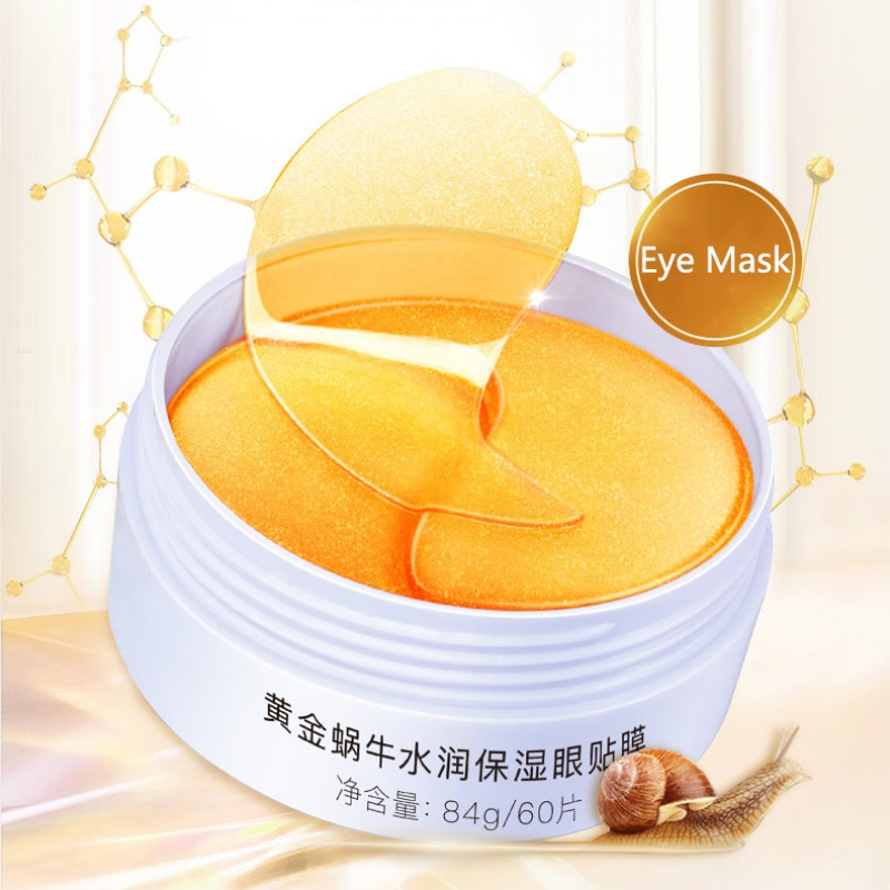 24K Gold Collagen Snail Eye Mask Patch 60PCS Moisturizer Anti-wrinkle Dark Circles Eye Patches Snail Eye Mask