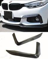 Fit für BMW 4 serie F32 MTECH Leistung carbon fiber wrapped winkel Vorne Top Splitter carbon fiber wrap