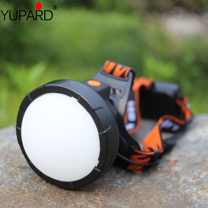 Купить с кэшбэком YUPARD bright power XM-L T6 LED HeadLight 18650 rechargeable battery Headlamps LED camping Head Light including Lightsphere
