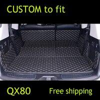 Пользовательские Коврики для багажника коврик багажник автомобиля ковер подкладке кожа Коврики коврик автомобиль Стайлинг для Infiniti QX56 QX80