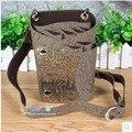Bolsa de Tijera de Peluquería Peluquería bolsa de La Pistolera de cuero Caso con Cintura de La Correa de Hombro