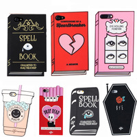 Phone Case For 6 6S 7 8 Plus Case Cover 3D Silicon Book Cat Sexy Lip