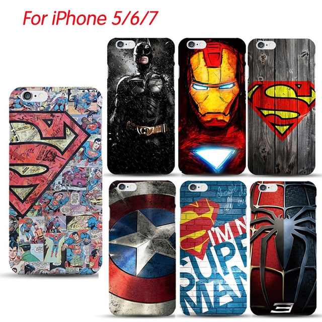 huge selection of c7af7 44029 US $1.38 5% OFF|Marvel Avengers Superhero Hard PC Case for iphone XR Xs MAX  X 10 8 8plus 7 7plus 6 6s Plus Superman deadpool Phone bags Cape-in ...