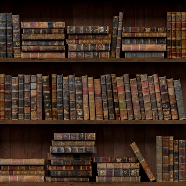 Laeacco Old Vintage Bookshelf Books Portrait Photography Backgrounds Customized Photographic Backdrops For Photo Studio