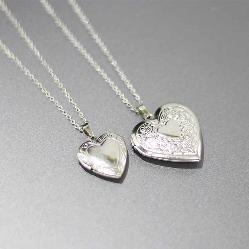Everfast 1 шт. гравированная фоторамка сердце подвеска «любящее сердце» ожерелье s очаровательыне нержавеющие ожерелье с медальоном женские ювелирные изделия памяти