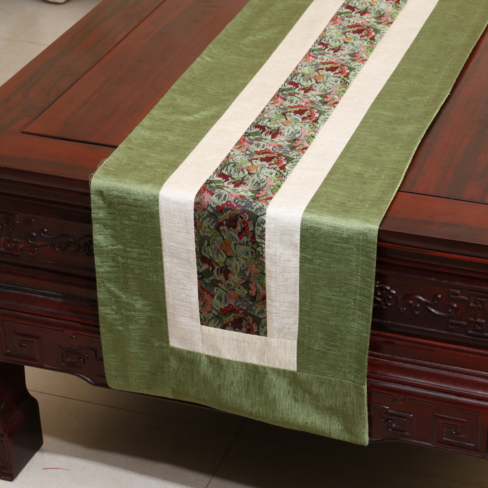 Handmade Rustic Modern Lace Table Runner Patchwork Damask Cotton - Home Textile - Photo 4