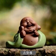 Новый монахи фигурка чай питомец Керамика ручной работы людей, скульптура украшения Ремесло Home Decor автомобиль орнамент отправить друзьям подарки статуя