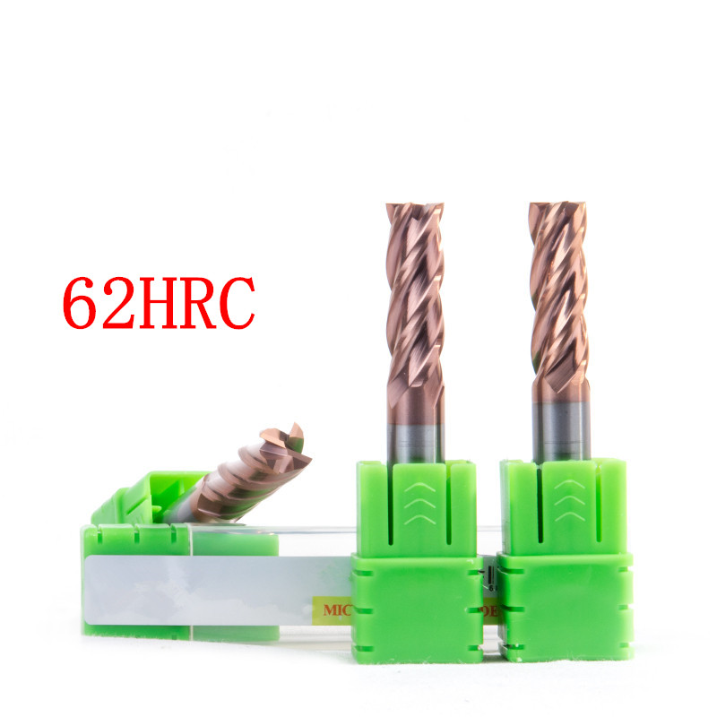 HRC45 HRC50 HRC55 3f 4/2 flûtes 18x150mm CNC Outil Carbure De Tungstène End Mill R9 ball end Fin en Aluminium moulin fraise