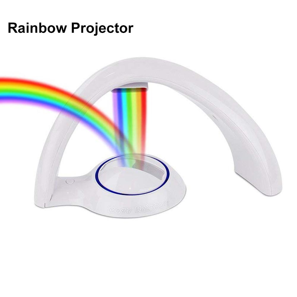 Novelty LED Colorful Rainbow Night Light Romantic Sky Rainbow Projector Lamp Magic Luminaria Home bedroom light Chrismas Gift