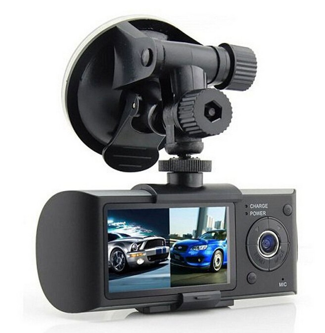 2 7inch Dual Lens Car DVR X3000 R300 Dual with GPS G Sensor Camcorder 140 Degree
