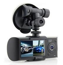 2.7 дюйма Двойной объектив Видеорегистраторы для автомобилей X3000 R300 двойной с GPS G-Сенсор видеокамера 140 градусов Широкий формат Видеорегистраторы для автомобилей Камера Регистраторы