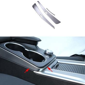 3x Front Center Armrest Steel Cover Trim For Mercedes-Benz GLK Class X204 09-15