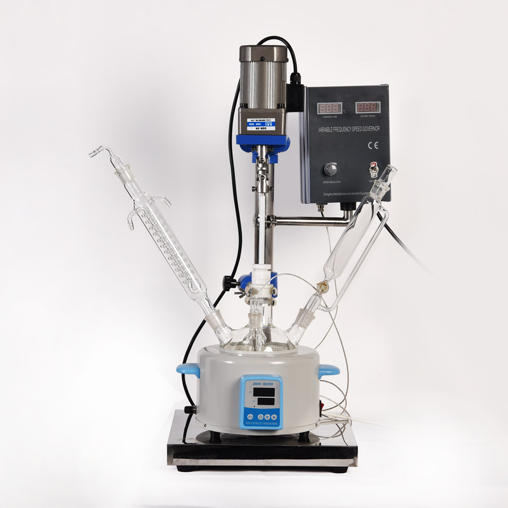 ZOIBKD Small F-2L Single-Layer Glass Reactor Can do Stirring Reaction And Distillation Reflux Laboratory Equipment laboratory equipment small single layer glass reactor can do stirring reaction and distillation reflux
