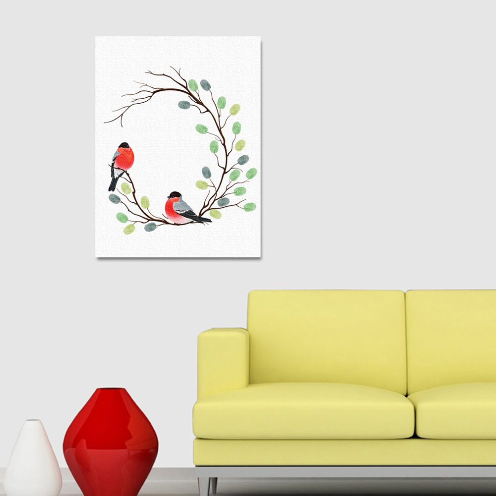 Creative DIY Fingerprints Painting Happy Bird Canvas Painting with ...