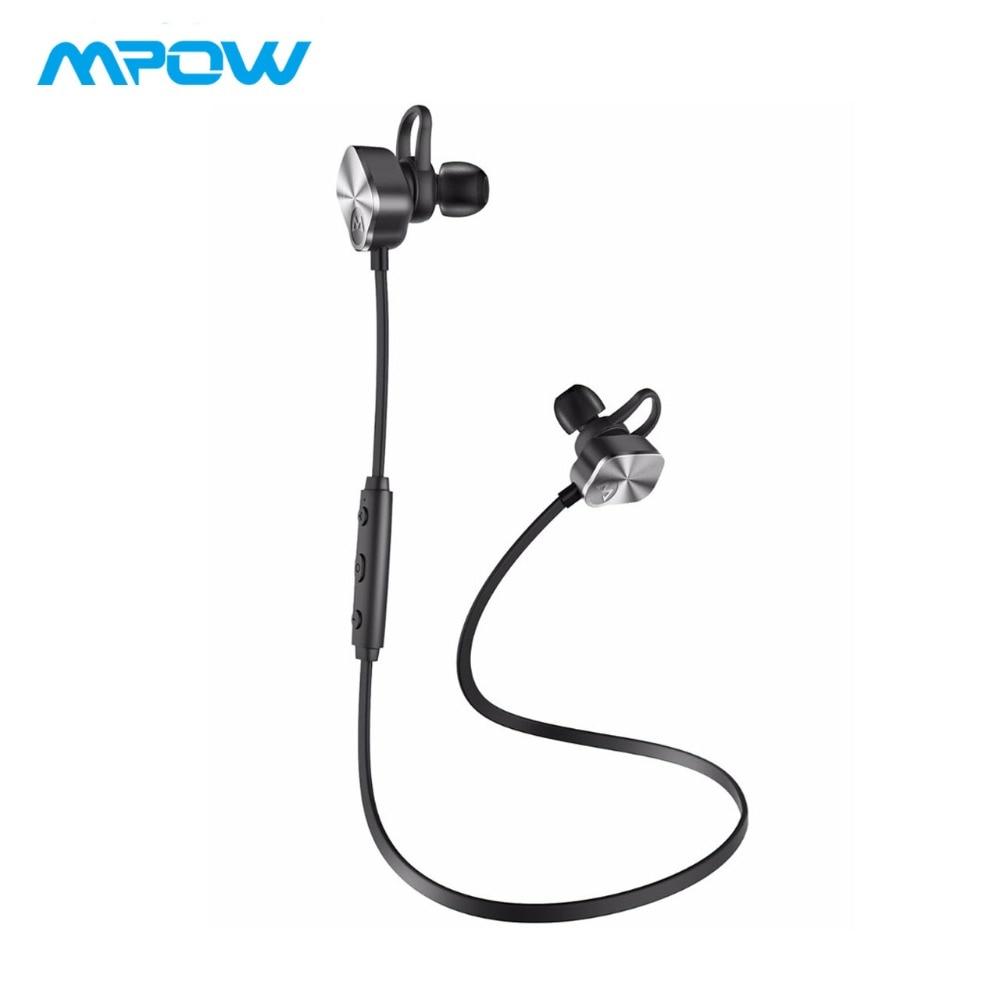 Mpow MBH29 wayarles bluetooth 4.1 fon telinga sukan kalis air dalam telinga tanpa wayar fon kepala dengan mikrofon telefon bebas tangan fon kepala