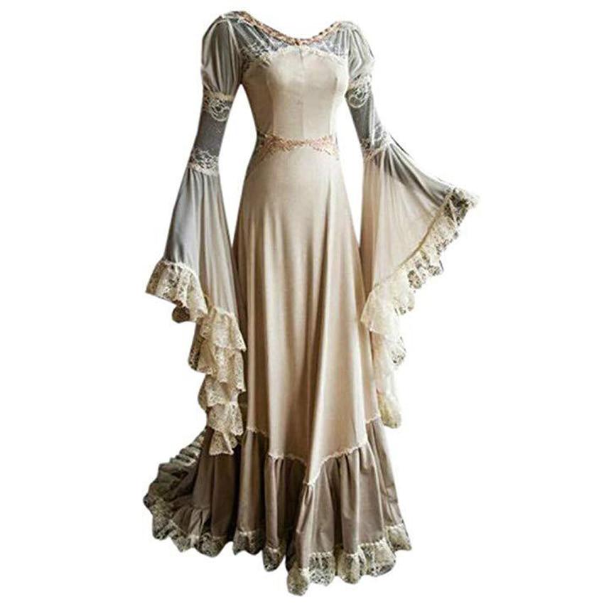 Princess Women Luxury Wedding Party Dress Medieval Costumes Victorian Gothic Transparent Lace Female Elegant Vintage Clothing