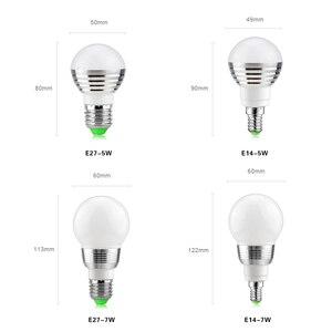 Image 2 - E14 E27 RGB LED ışık uzaktan kumanda ile ampul Bombillas LED lamba akıllı ampul AC 85V 265V ampul LED ampul 5W 7W