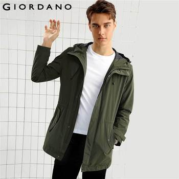 Giordano Men Jacket Medium Style Hood Windbreaker Male Overcoat 2017 Simple Brand Clothes Chaquetas Hombre