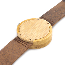 Genuine Leather Strap Wooden Watch