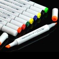 Đích thực Finecolour mực cồn dầu Đánh Dấu bút phác thảo twin marker 36 màu professional vẽ cọ pen art fine lót