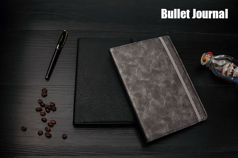 Dotted Bullet Notebook FOCUS Journal Bujo Flexy Puntos Leatherette Cover with Elastic Undated Diary Notepad Dot Grid A5 in Notebooks from Office School Supplies
