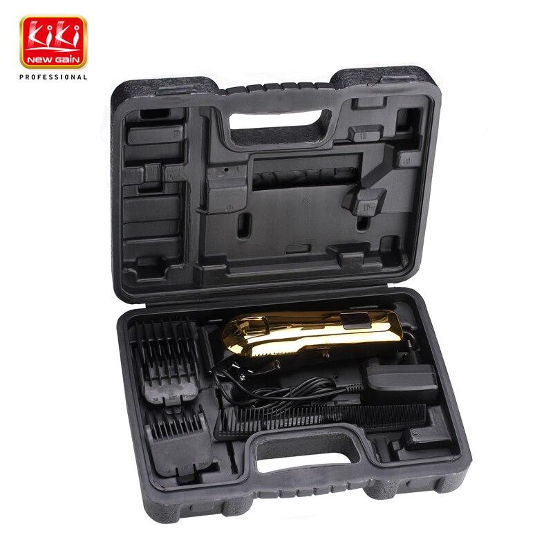KIKI tondeuse à cheveux rechargeable professionnel coupe-cheveux tondeuse à cheveux Lithium batterie NG-777BOX avec écran Lcd et boîte à outils