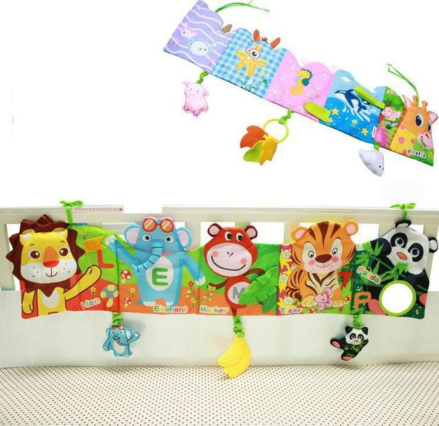 New babies and infants 0-36 months bed wai cloth book multifunctional bed hang cloth fancy/toy lions giraffes