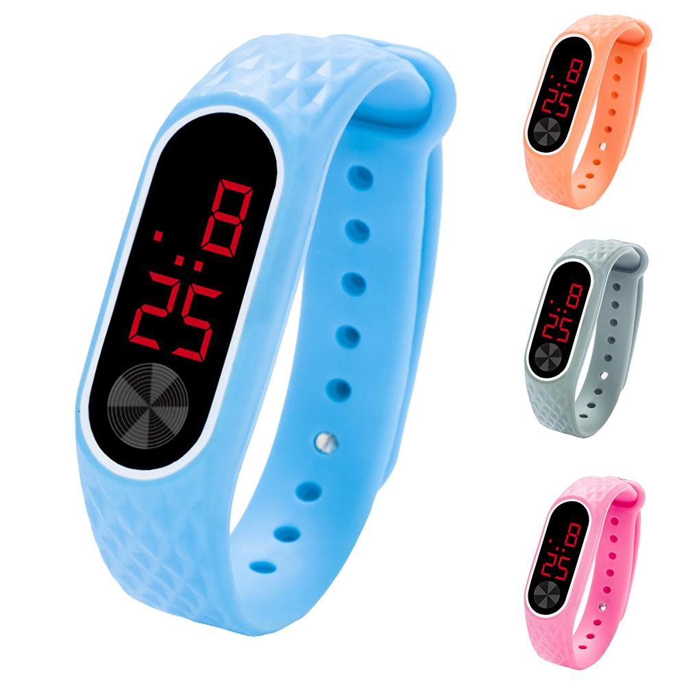 New Student Unisex Lover Universal LED Digital Rectangle Electronic Sport Wist Watch