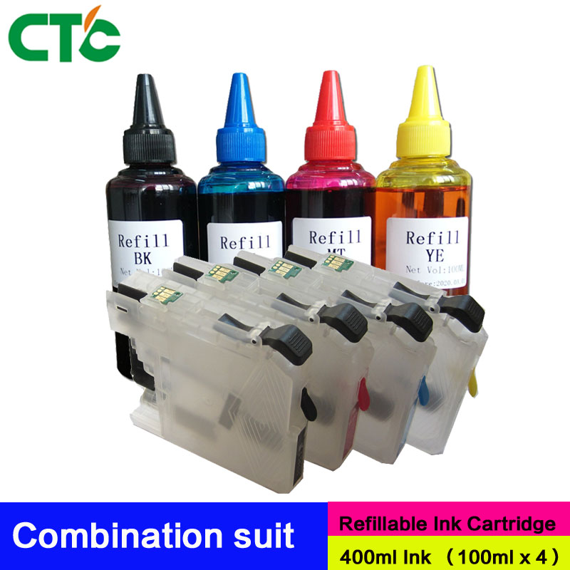 LC223 refillable ink cartridge for brother J4120DW J4420DW J4620DW 4625DW J5320DW J5620DW J5625DW J5720DW J562DW with ARC chip