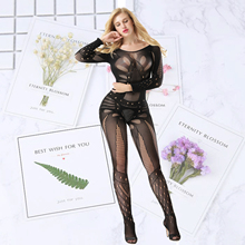 female long sleeves sexy Stockings romper intimates Onesies Sleep Bottoms Bustiers Sexy Lingerie Fullbody Body stockings