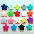 Food grade Silicone Teething stars bead for DIY Necklaces beads baby silicone sunflower pendant wholesale silicone necklace bead