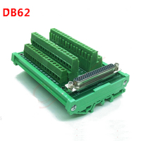 DB62 male / female socket terminal block breakout board adapter cable wiring terminal DIN Rail