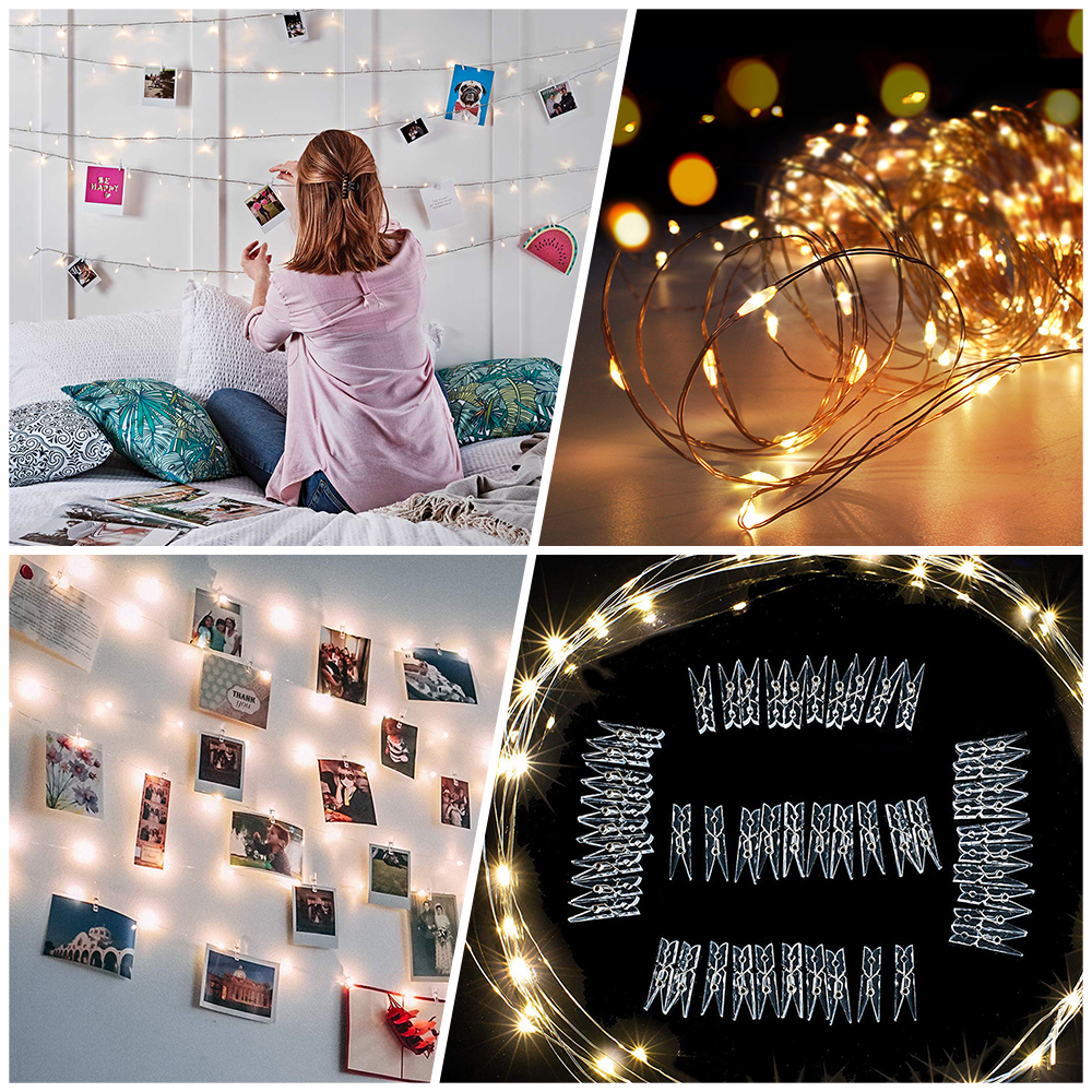 Photo Clip USB LED String Lights Fairy Lights Outdoor Battery Operated Garland Christmas Decoration Party Wedding Xmas (23)