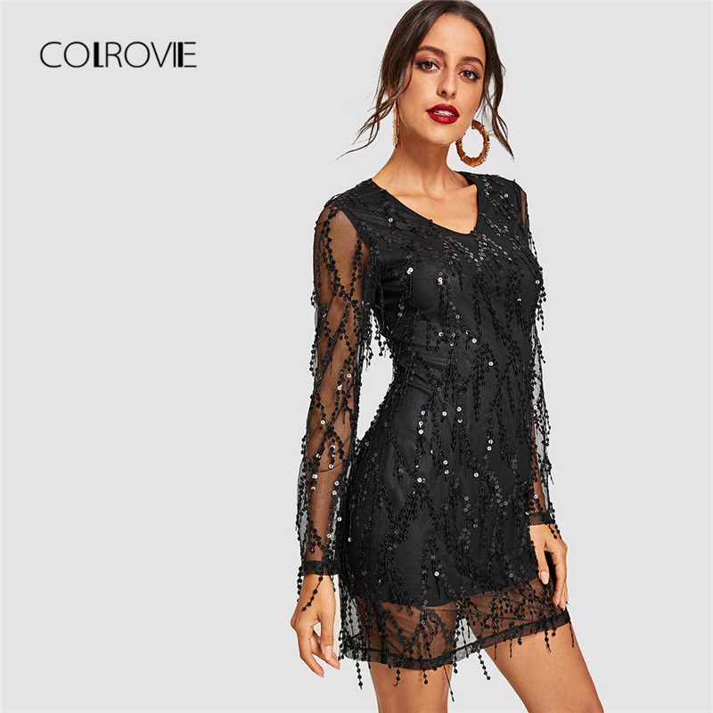 Outlet black sheer strappy textured glitter bodycon dress official jet knitted hollister